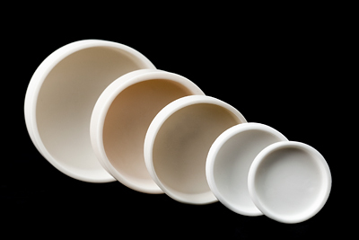 cylindrical ceramic trays