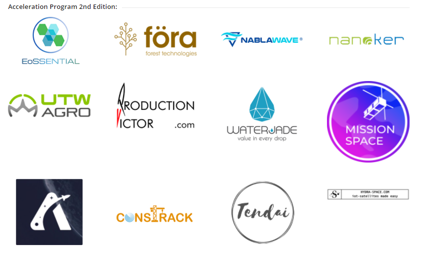 Selected participants in Go2SpaceHubs Accelerator Second Edition